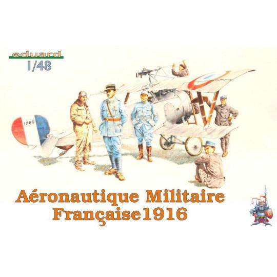FIGURINES WW1 Aéranautique Militaire Française 6 Unités par BOITE - 1/48ème EDUARD
