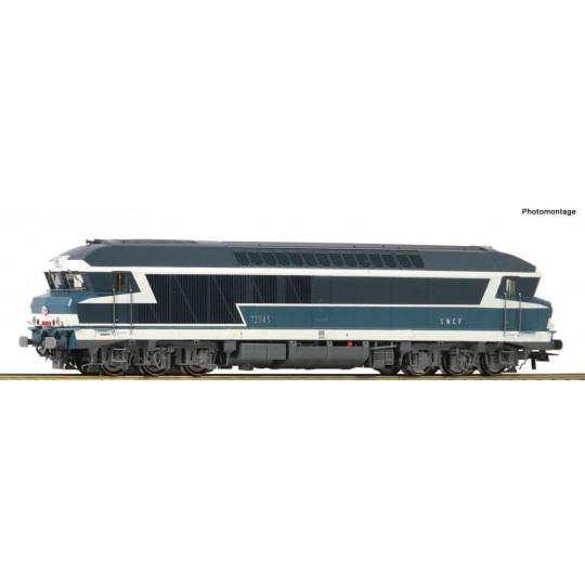 LOCOMOTIVE DIESEL CC 72000 SNCF ROCO 1/87 HO DIGITAL SON