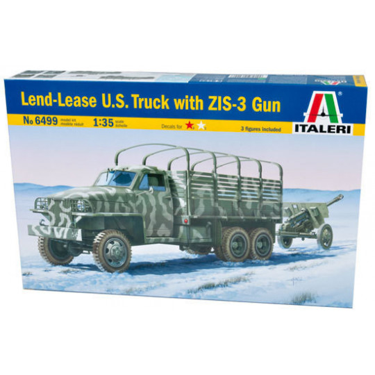 LEND-LEASE US TRUCK WITH ZIS-3 GUN 1/35 ITALERI