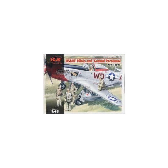 PILOTES USAAF ET PERSONNEL AU SOL 1/48 ICM