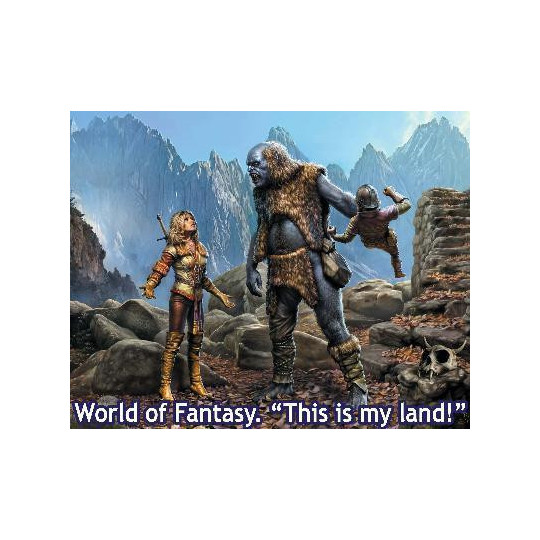 THIS IS MY LAND WORLD OF FANTASY 1/24 MASTER BOX