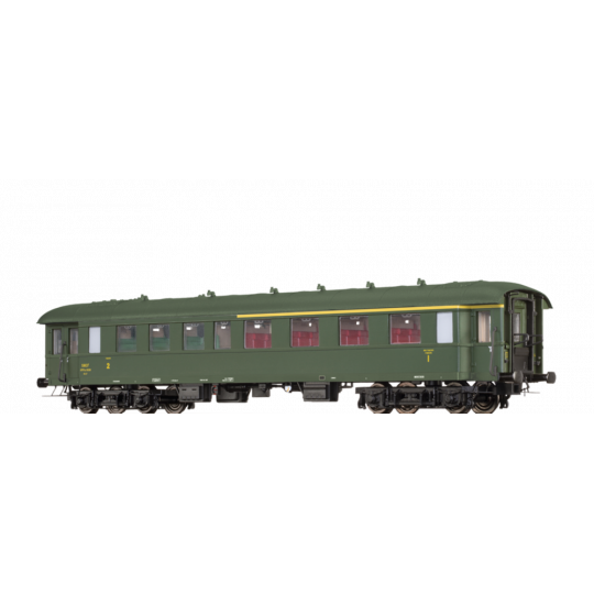 VOITURE à BOGIES SNCF BASTILLE 1Cl/2Cl A/B HO 1/87 BRAWA
