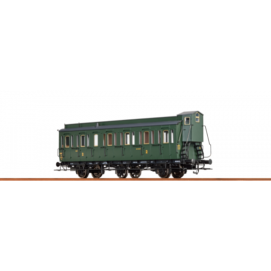 VOITURE SNCF 2CL/B 3 ESSIEUX GUERITE HO 1/87ème BRAWA