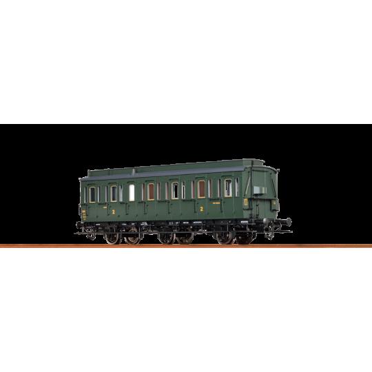 VOITURE SNCF 2CL/B 3 ESSIEUX HO 1/87ème BRAWA