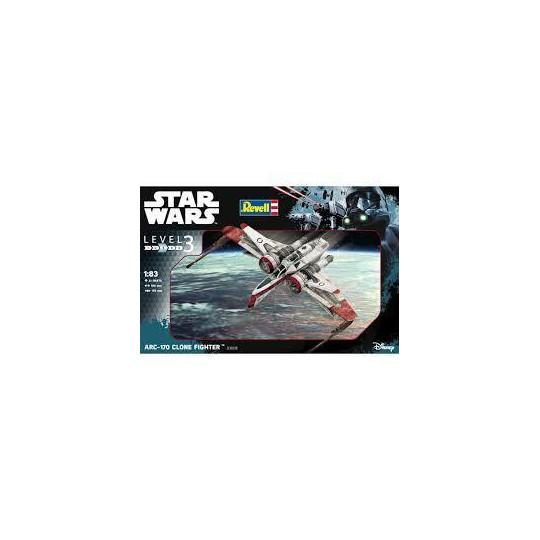ARC-170 CLONE FIGHTER STARWARS 1/83 REVELL
