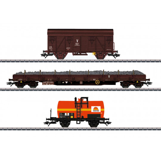 WAGONS TRAVAUX COLAS RAIL SET 3 u 1/87ème TRIX