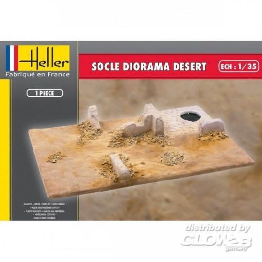 SOCLE DIORAMA DESERT HELLER