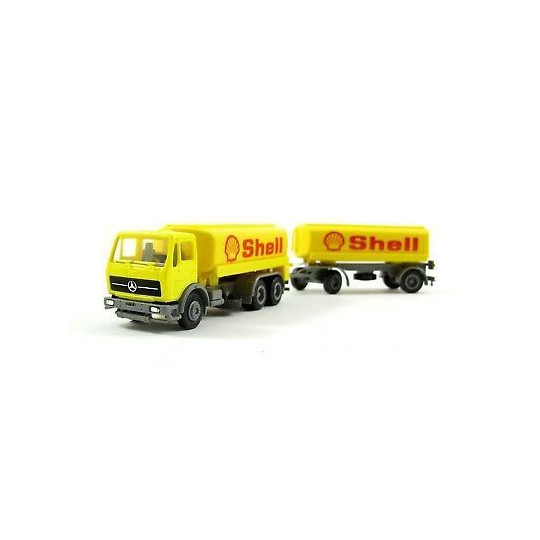 CAMION + REMORQUE MERCEDES SHELL 1/87 HERPA