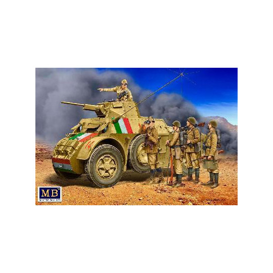 SOLDATS ITALIENS 5 - LYBIE 41/42 1/35 MASTER BOX
