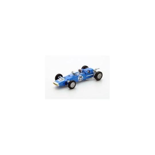 Voiture miniature Matra MS1 n 25 pilotée par Jackie Stewart au Test en F3 à Goodwood en 1966 1/43 SPARK