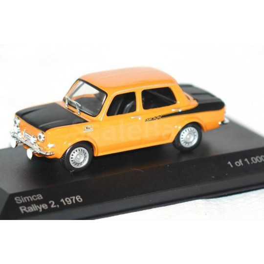 SIMCA MILLE RALLYE 2 ORANGE 1/43 WHITEBOX