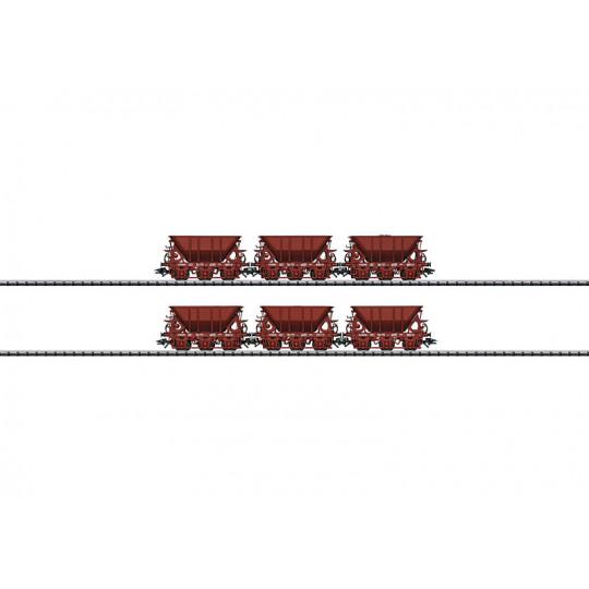 Wagons Coffret 6 u Trémies Minéraliers  1/87 TRIX