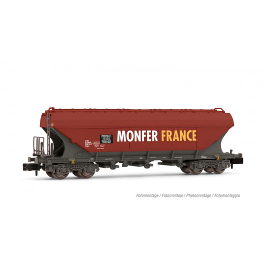 """Wagon céréalier bogies faces plates """"Monfer France"""" 1/160 - N - ARNOLD"""