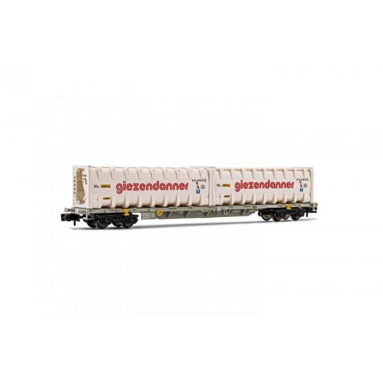 Wagon Porte-conteneur bogies HUPAC SBB container Giezendanner 1/160 ARNOLD