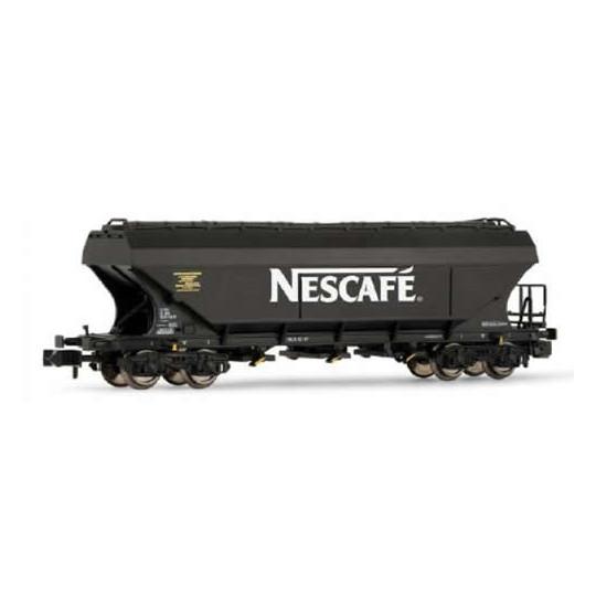 "Wagon céréalier bogies faces plates ""NESCAFE"" 1/160 - N - ARNOLD"