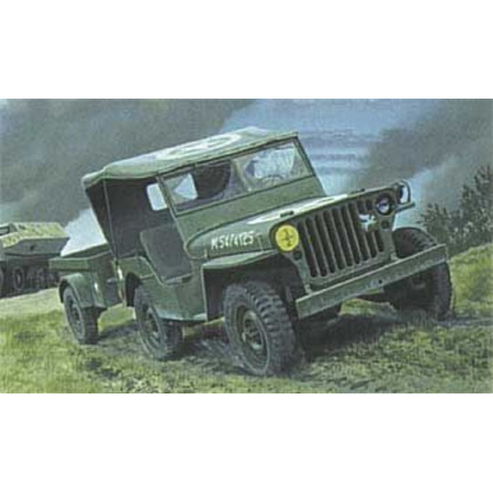 JEEP WILLYS ET TRAILER 1/35 HELLER