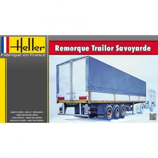 """Semi-remorque Camion """"Savoyarde"""" trailer 1/24 HELLER"""