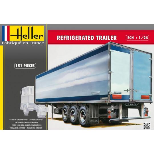 "Semi-remorque Camion ""FRIGO"" trailer 1/24 HELLER"