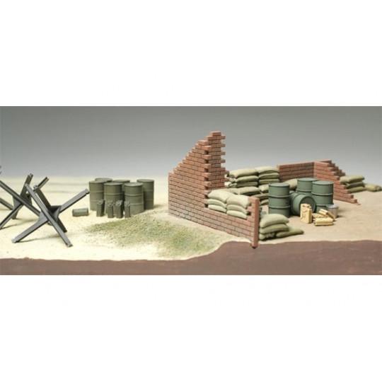 Barricade et sacs de sable...