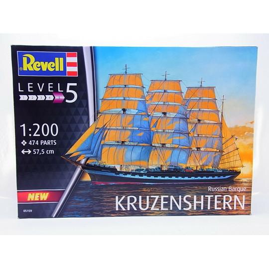 Russian 3 Mats Barque KRUZENSHTERN 1/200 REVELL