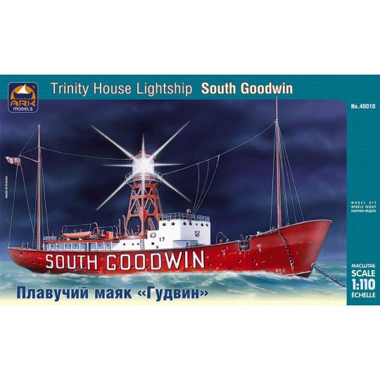 "Bateau Phare Trinity House ""South Goodwin"" British lightship  1/110 ARK-Models"