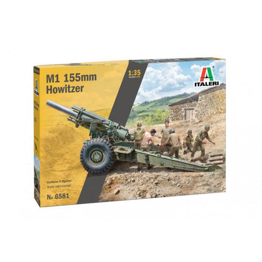 Howitzer M1 155 mm Obusier tracté 1/35 ITALERI