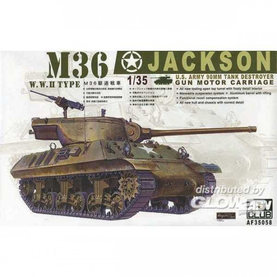 US TANK M36 JACKSON DESTROYER 1/35 AFV