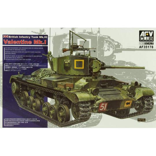 British Infantry Tank Mk.III Valentine Mk.I 1/35 AFV
