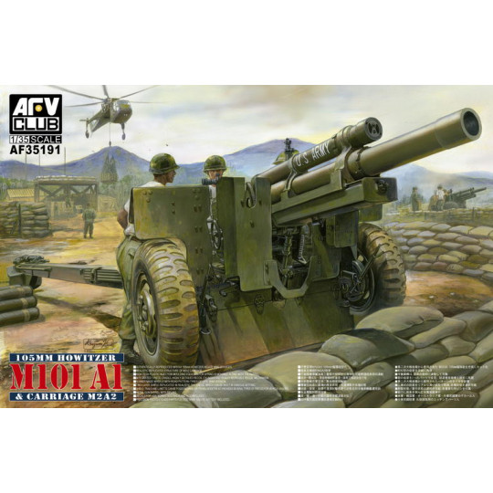 Obusier US 105mm HOWITZER M101A1 & CARRIAGE M2A2   1/35 AFV