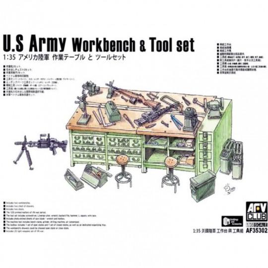 Accessoires établi et outils U.S. Army Workbench & Tool Set 1/35 AFV