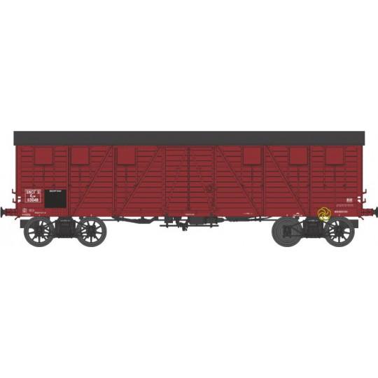 Wagon couvert bogies type TP 1/87 HO REE
