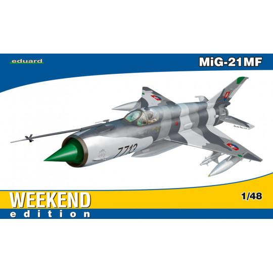 MAQUETTE A MONTER ET A PEINDRE  MIG-21 MF 1/48 EDUARD WE EDITION