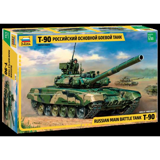 Char de bataille russe T-90 avec Blindage Réactif 1/35 ZVEZDA
