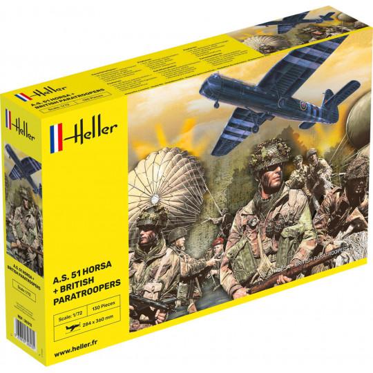 KIT planeur A.S. 51 Horsa + Paratroopers  1/72 HELLER