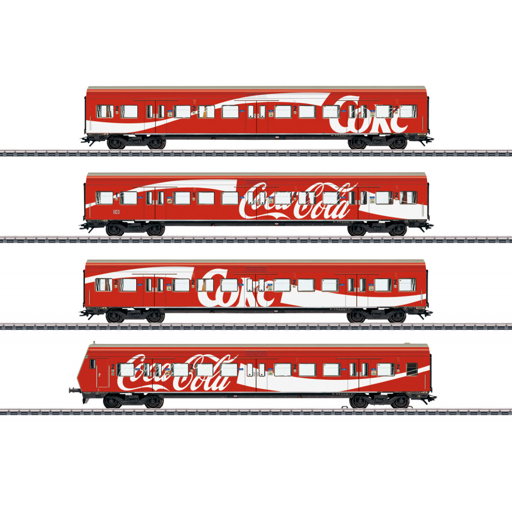 "Coffret Set voitures voyageurs DB ""S-Bahn"" ""Coca Cola"" 1/87 MARKLIN"