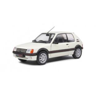 PEUGEOT 205GTi 1.9L MK1 blanche 1988 1/18 SOLIDO