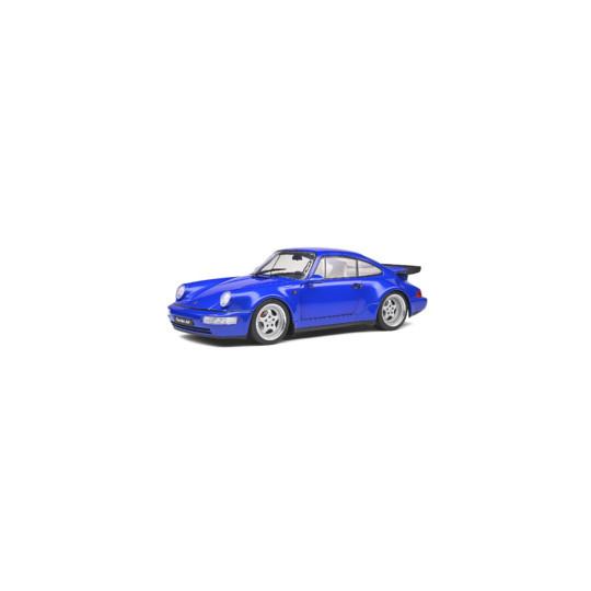 PORSCHE 911 TURBO Bleu electrique 1990 1/18 SOLIDO
