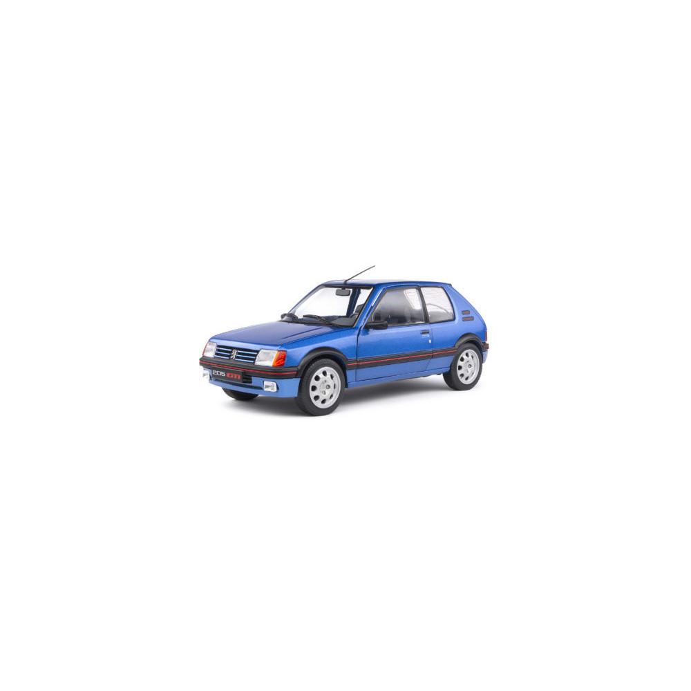 PEUGEOT 205 GTI 1.9L MK1 bleu Miami 1988 1/18 SOLIDO