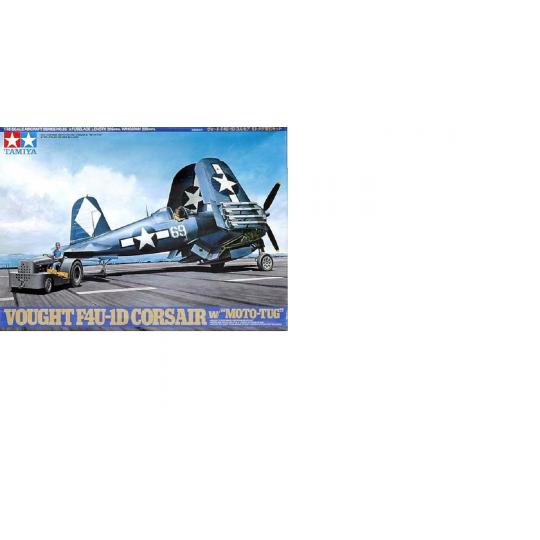 Chance Vought F4U-1D CORSAIR & Tracteur de pont 1/48 TAMIYA