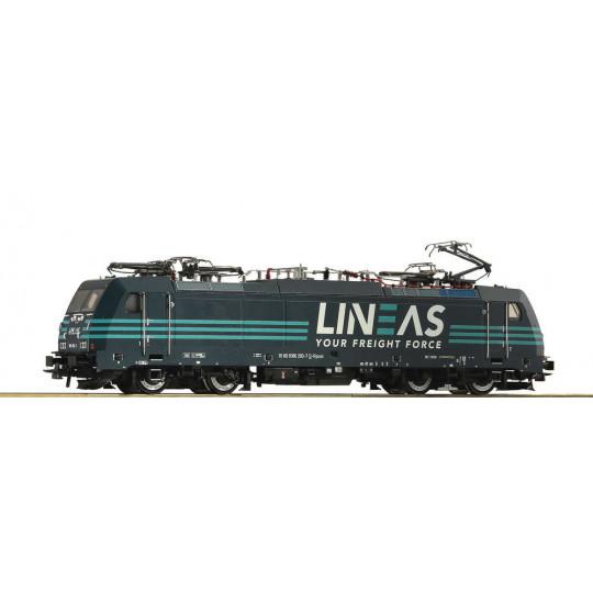 Locomotive électrique Digital Son BB BR 186 SNCB LINEAS 1/87 HO ROCO