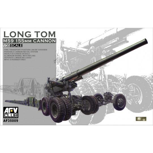 Canon Obusier US M59 155mm Long Tom  1/35 AFV