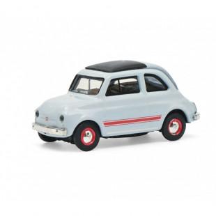 FIAT 500 sport bleue 1/87 SCHUCO