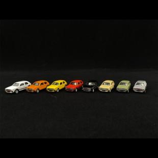 Coffret 8 voitures VOLKSWAGEN golf 1/87 SCHUCO