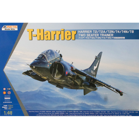 T-Harrier T2/T4/T8 two seat trainer1/48 KINETIC