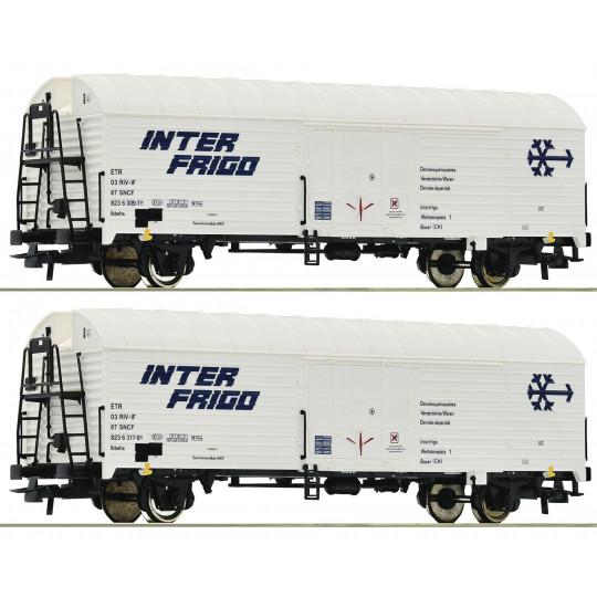 Wagon Frigo SET 2 unités SNCF Interfrigo1/87 ROCO