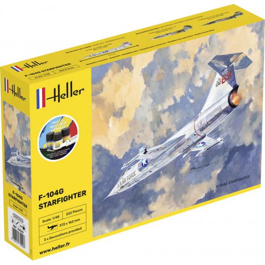 Lockheed F-104G LuftWaffe Starfighter 1/48 HELLER