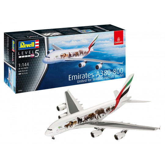 AIRBUS A380 EMIRATES Wild Life 1/144 REVELL