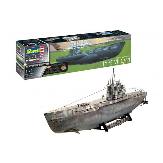 Sous-marin / U- BOOT Type VII C/41  - 1/72 ème Platinum Edition REVELL