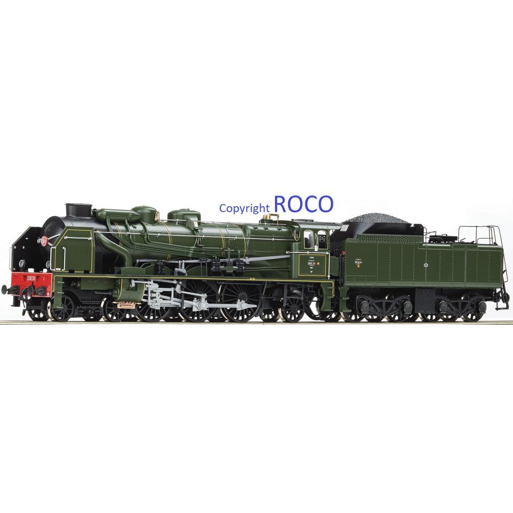 Locomotive vapeur SNCF 231 E 40 Digital SON 1/87 HO ROCO