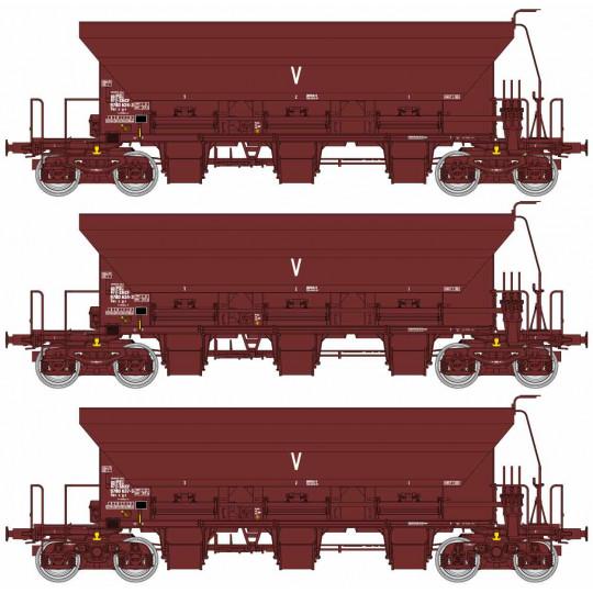 Coffret 3 wagons trémies...